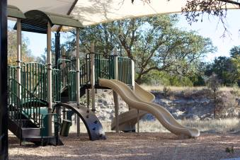 playscape near creek